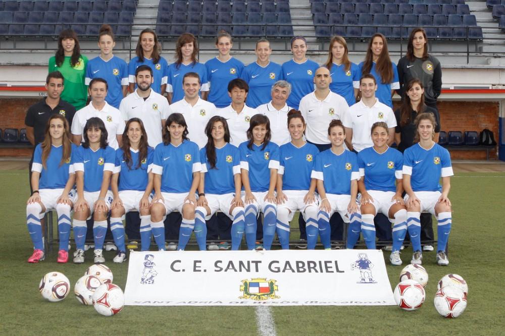Foto de la plantilla del Club Esportiu Sant Gabriel
