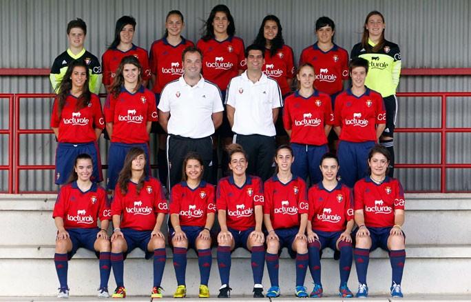 Foto de la plantilla del Club Atlético Osasuna Femenino